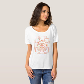 Women's Orange Sri Yantra - click for more styles T-Shirt