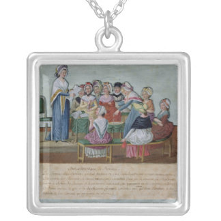 Women's Patriotic Club Silver Plated Necklace