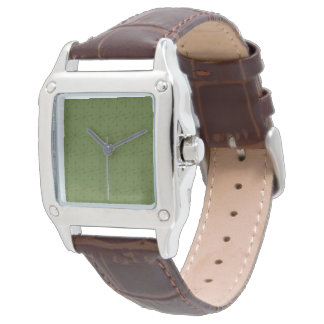 Women's Perfect Square Brown Leather Strap Watch M