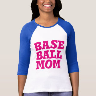 Womens Personalized Baseball Mom 3/4 Sleeve Jersey T-Shirt