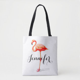 Women's Personalized Flamingo Tote Bag