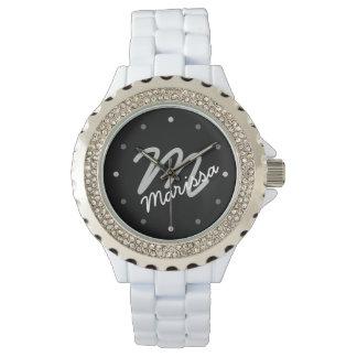 Women's Personalized Monogram Sporty Wrist Watches