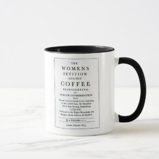 Women's Petition Against Coffee Mug