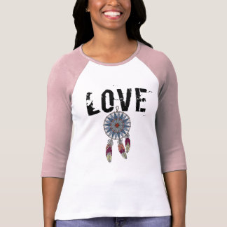Women's Pink Dreamcatcher Raglan T-shirt