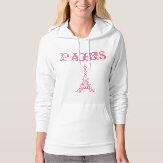 Women's Pink Eiffel Tower Paris Sweatshirt