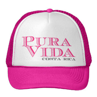 Women's Pink Pura Vida Costa Rica Cap