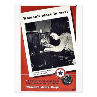 Women's Place In War Flyer Design