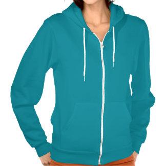 Womens Plain Blue Hoodie