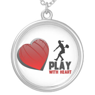 Womens Play With Heart Tennis Necklace