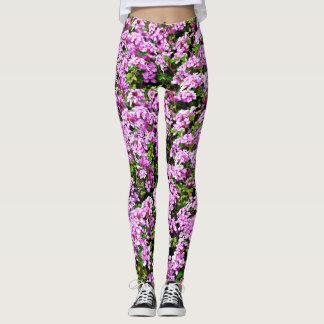 Women's Purple Flower Leggings