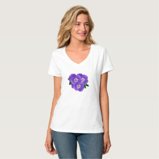 Women's Purple Pansy Bouquet T-Shirt