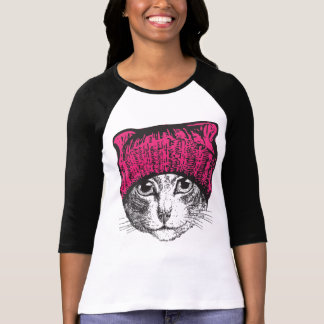 Women's Pussyhat Pussycat Protest Shirt
