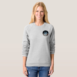 Women's Raglan Sweatshirt In Christmas Design