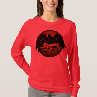 Women's Raven Art Shirts Lady's Crow / Raven Tops