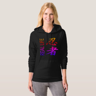 "Womens Real Life ""Ninja"" Pocket Hoodie"