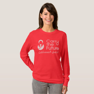 Women's Red Long-Sleeved Shirt