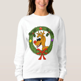 Women's Reindeer in Wreath Sweatshirt