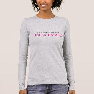 "Women's ""RELAX HARDER"" Long Sleeve Casual Shirt"