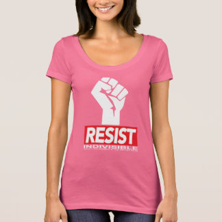 Womens Resist T Pink T-Shirt