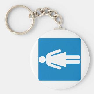 Women's Restroom Highway Sign Key Ring
