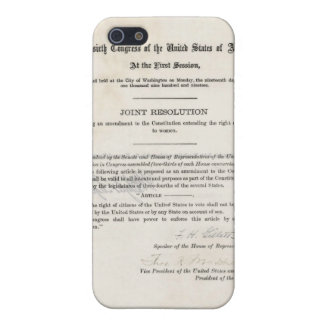 Women's Right to Vote- 19th Amendment iPhone 5/5S Covers