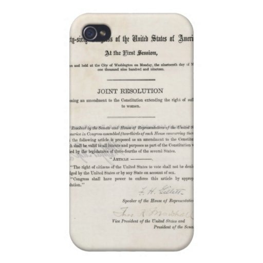 Women's Right to Vote- 19th Amendment Covers For iPhone 4