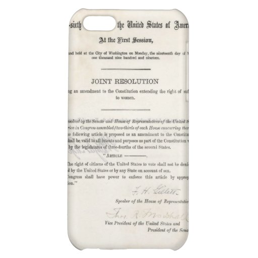 Women's Right to Vote- 19th Amendment Cover For iPhone 5C
