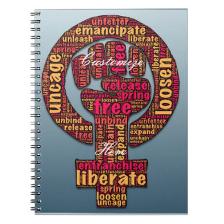 women's rights 2017 raised fist notebooks