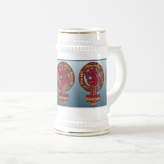 women's rights 2017 raised fist Thunder_Cove Beer Stein