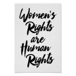 Women's Rights Are Human Rights Poster