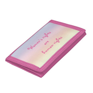 Womens Rights are Human Rights Rainbow Wallet