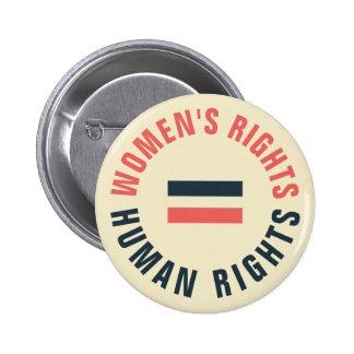 Women's Rights Equal Human Rights Feminist 6 Cm Round Badge