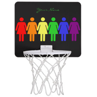 women's rights LGBTQIA Mini Basketball Hoop