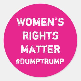 Women's Rights Matter Classic Round Sticker