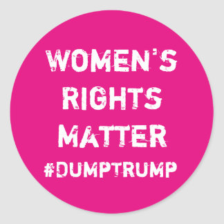 Women's Rights Matter Round Sticker