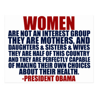 Women's Rights Obama Quote Postcard