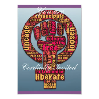 women's rights Raised Fist Thunder_Cove any color Card