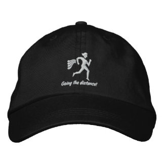 "Womens Running ""Going the distance!"" Embroidered Cap"
