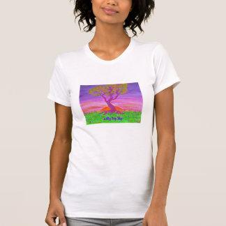 Women's Scoop Neck Tee Shirt- Lolly Pop Sky