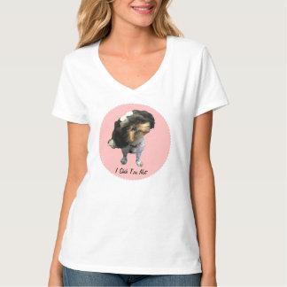 Women's Shih Tzu Hanes Nano V-Neck T-Shirt