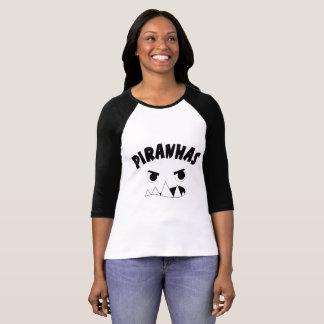 Women's shirt with piranha face