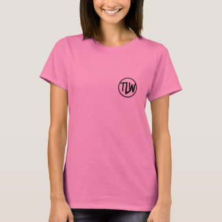 """Womens shirt with """"thelifeofwill"""" across the font"""
