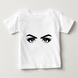 Womens Sketch Eyebrows Baby T-Shirt