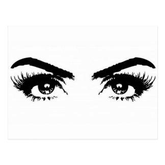 Womens Sketch Eyebrows Postcard