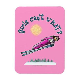 Women's Ski Jumping Vinyl Magnet