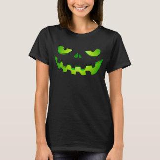 Women's skull face pumpkin Halloween costume T-Shirt