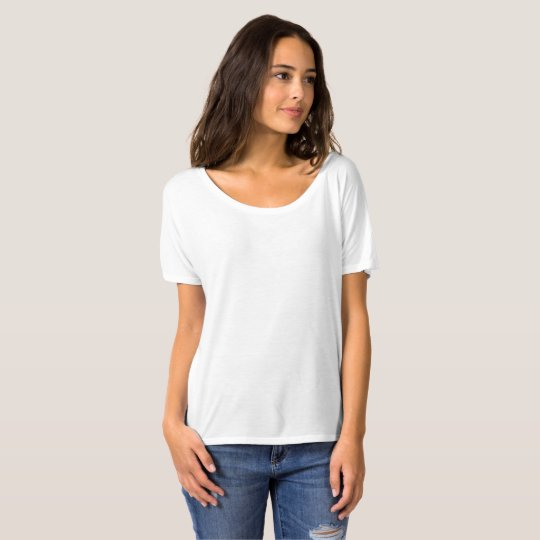 Bella+Canvas Slouchy Boyfriend T-Shirt, White