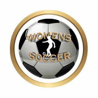 Women's Soccer Ball Standing Photo Sculpture