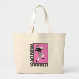 womens soccer grey and pink logo graphic canvas bags
