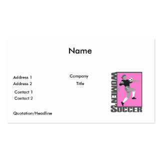womens soccer grey and pink logo graphic business cards